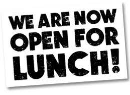 Open For Lunch Wednesdays